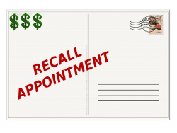 Recall Appointment Postcard